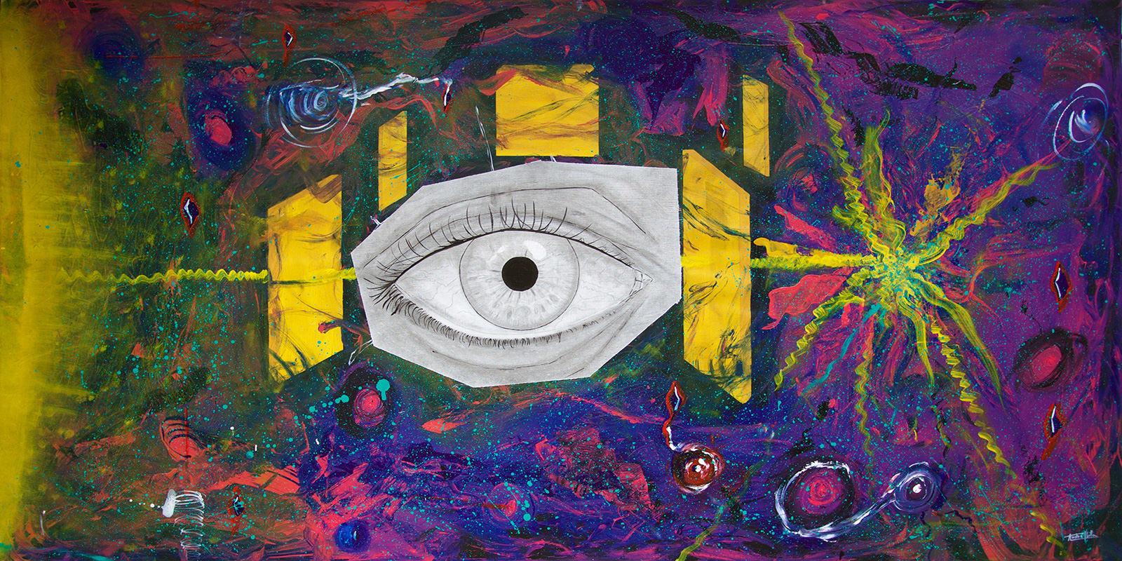 pintura artista chileno Andre Ubilla Universo
