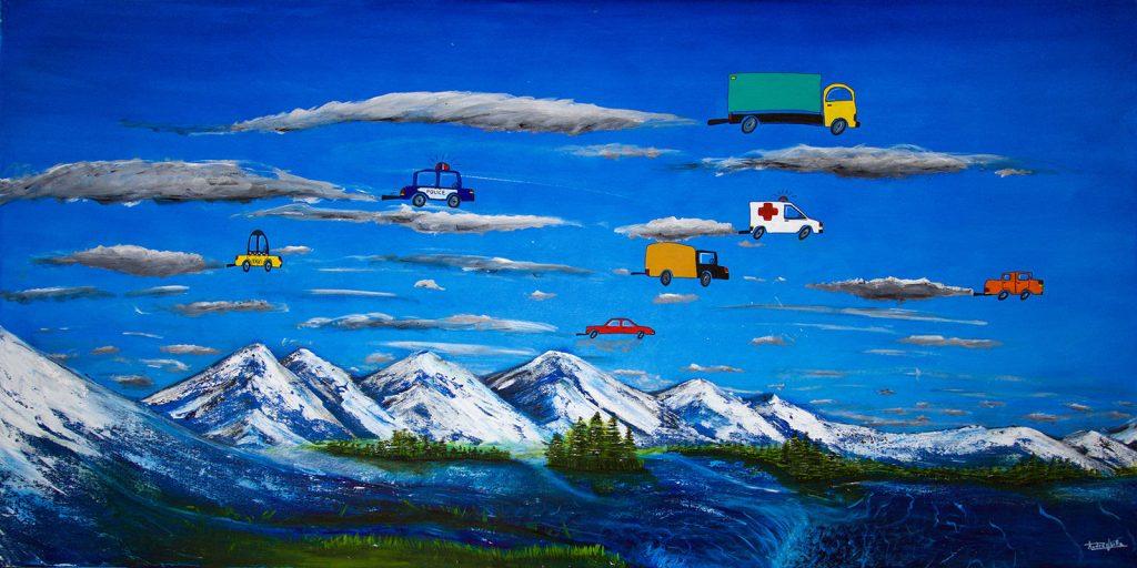 pintura artista chileno Andre Ubilla protección medioambiente cambio climático