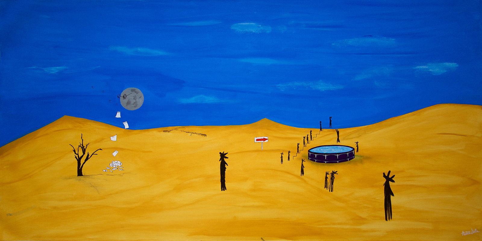 pintura artista chileno Andre Ubilla detenidos desaparecidos