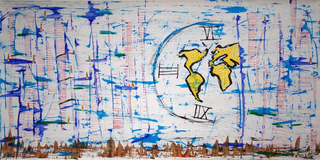 pintura artista chileno Andre Ubilla critica social